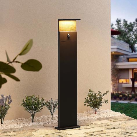 Lucande Lignus LED-gånglampa, rörelsesensor