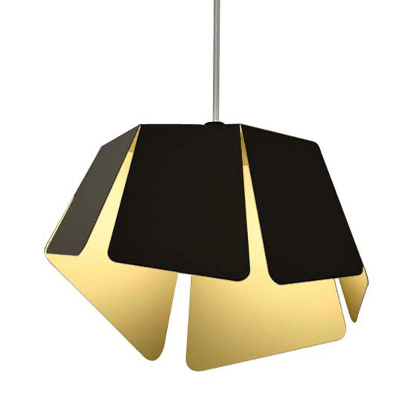 Czarno-złote wzornictwo - lampa wisząca Flower