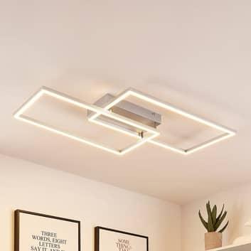 Lucande Muir LED-taklampe, rektangulær, CCT