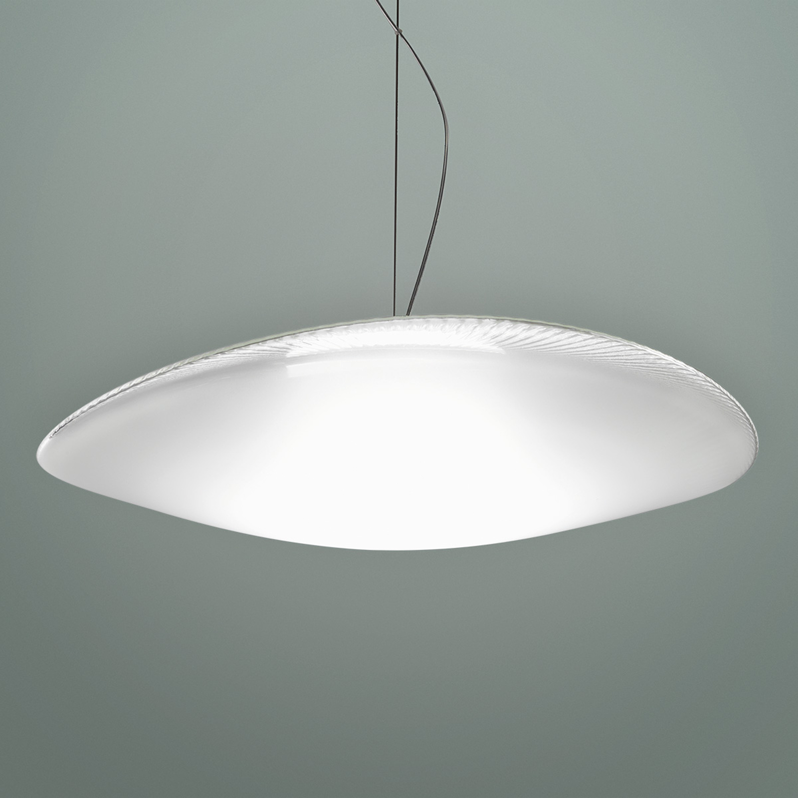 Powerful Loop glass hanging light with LED, 3000K_3503223_1