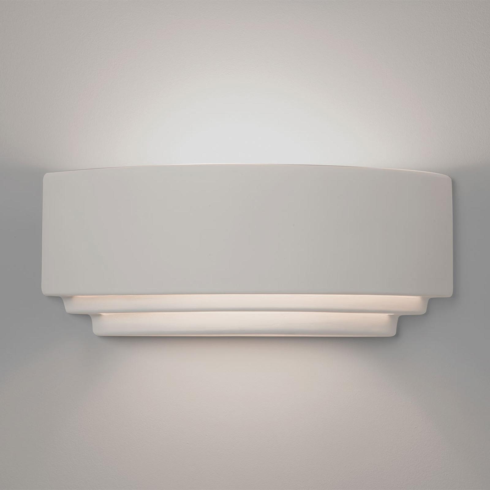 Astro Amalfi 380 applique céramique blanche 38cm