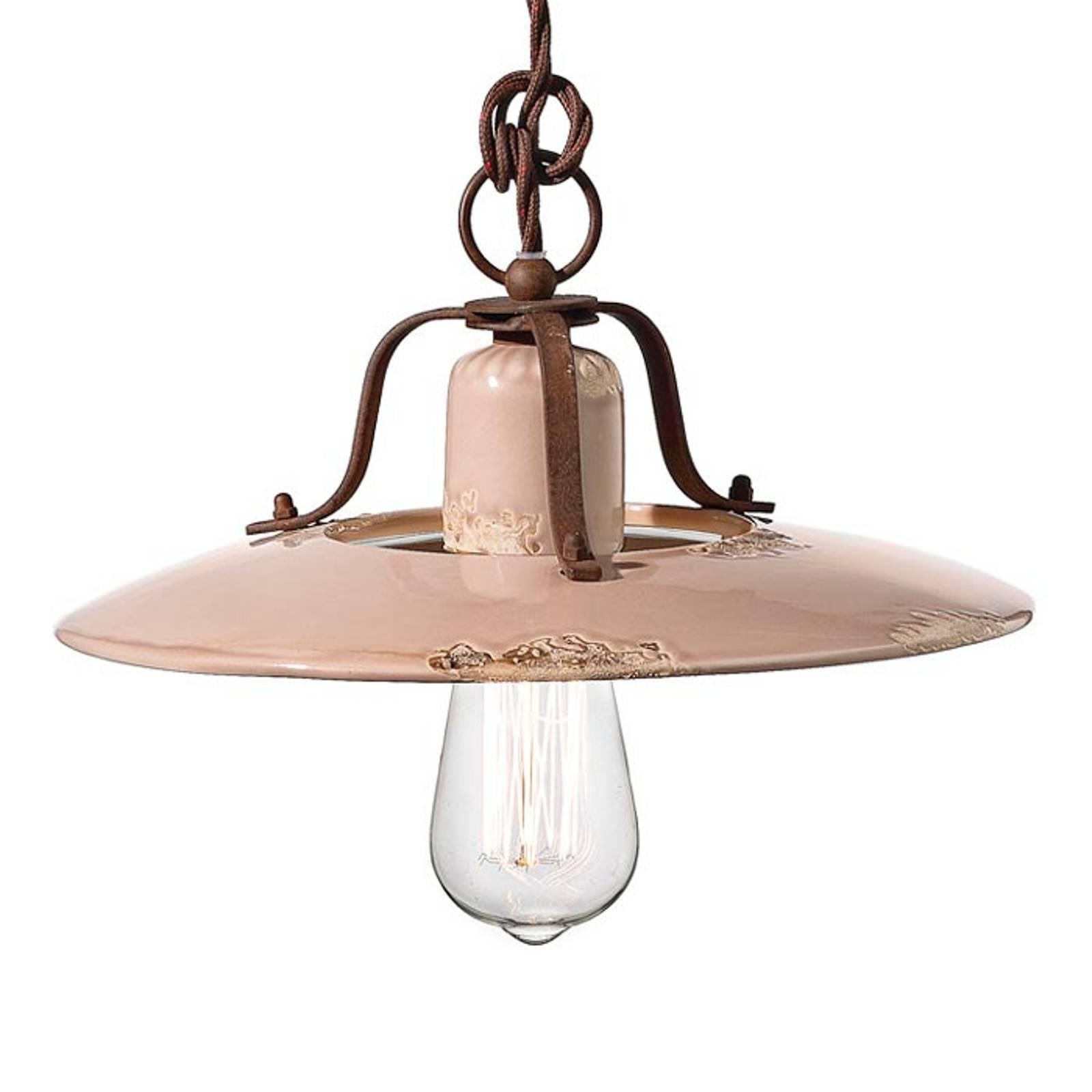 Ceramiczna lampa wisząca Giorgia, 30 cm, stary róż