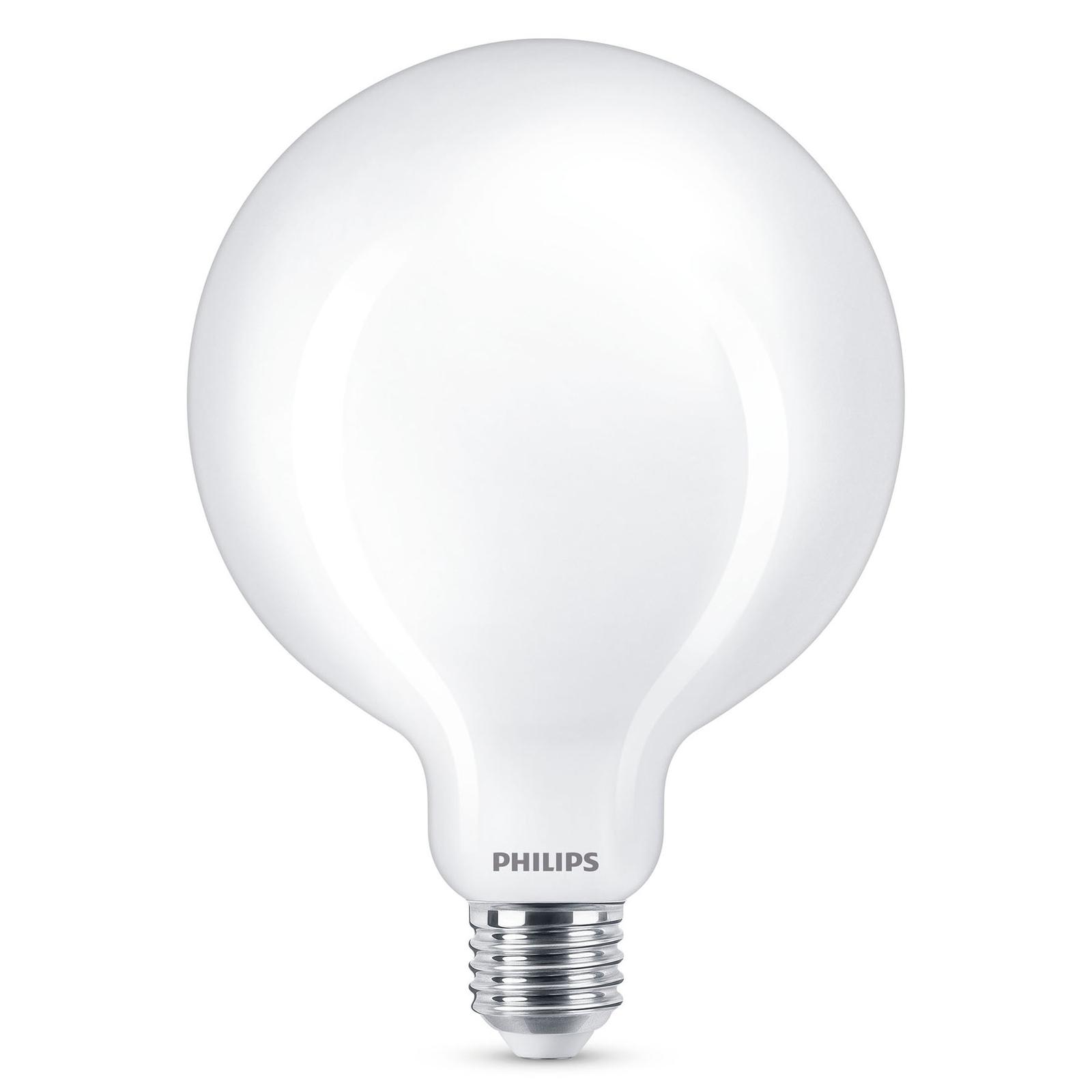 Philips LED Classic globepære E27 G120 8,5W mat
