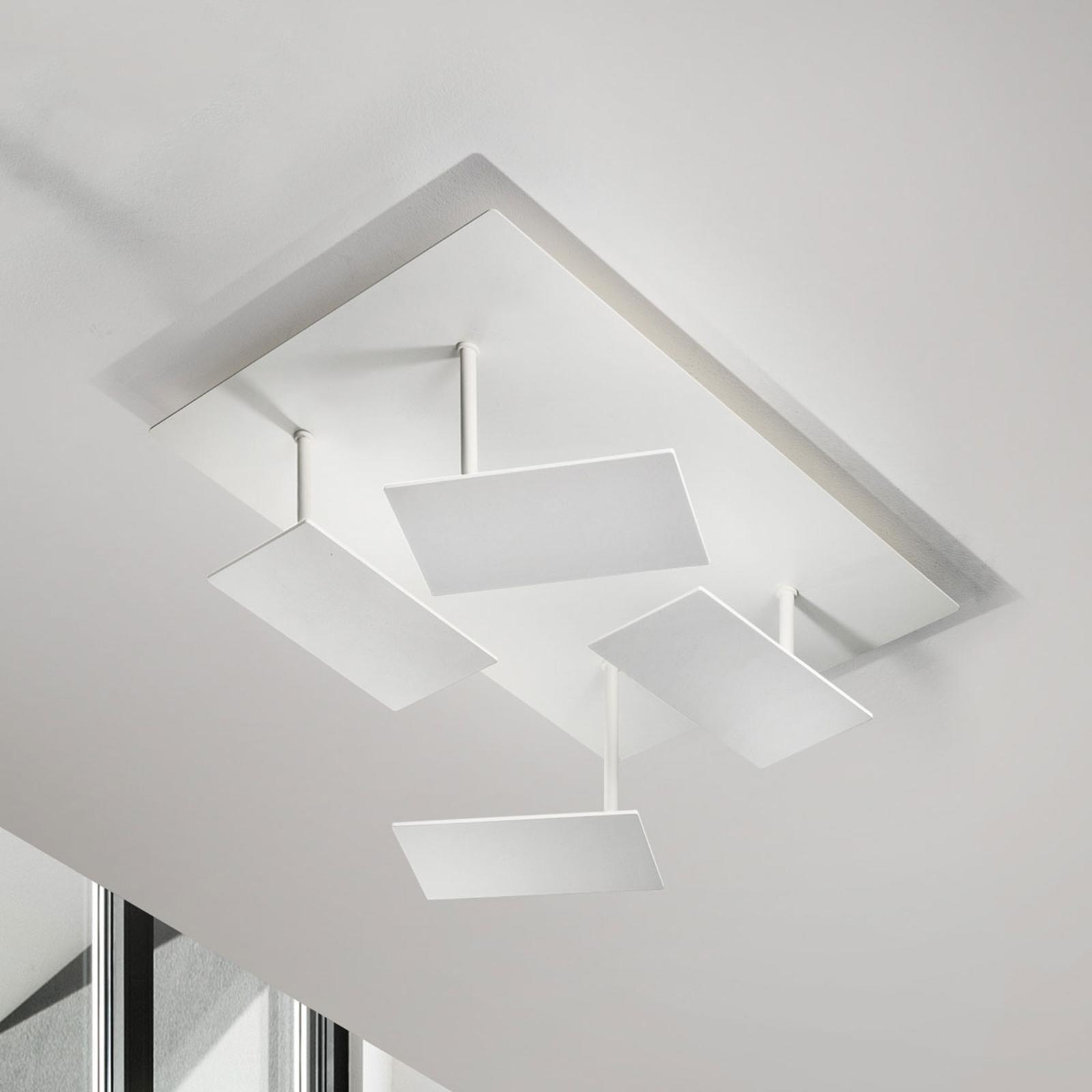 Hvit, moderne LED-taklampe Time, justerbar