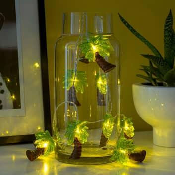 Guirlande lumineuse LED Palmier, sur pile