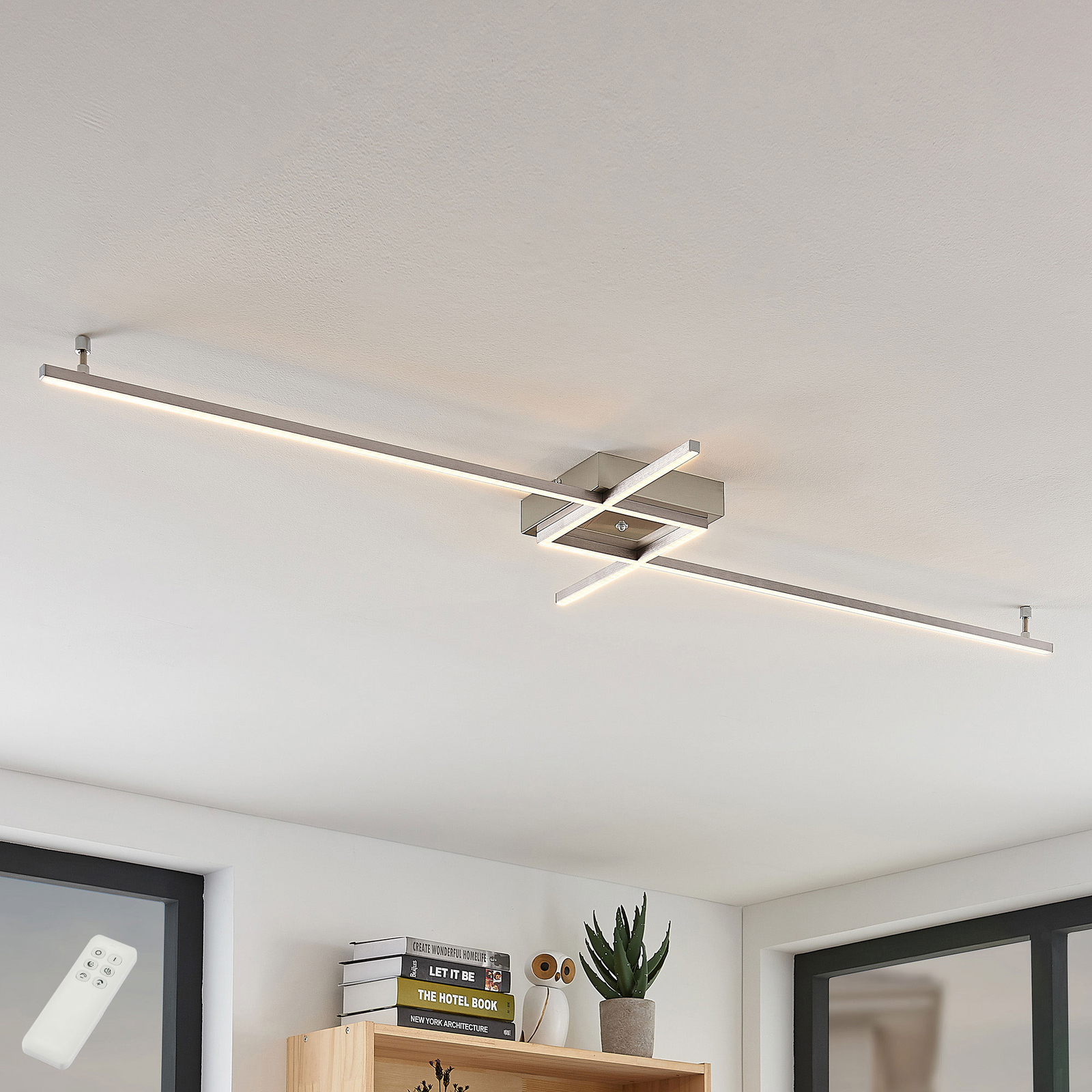 Keki Led Ceiling Light With Remote Control Lights Co Uk