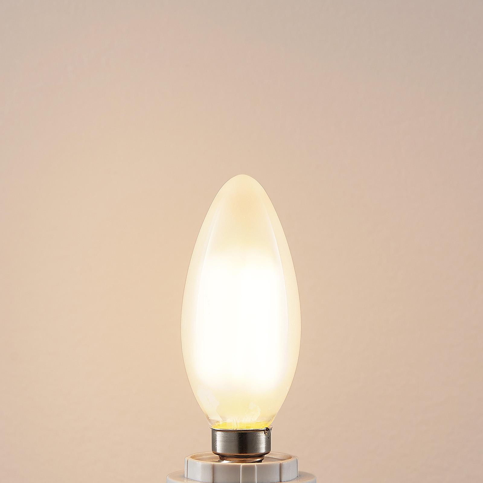 LED-pære E14 4W 2.700K kerte dæmpbar mat