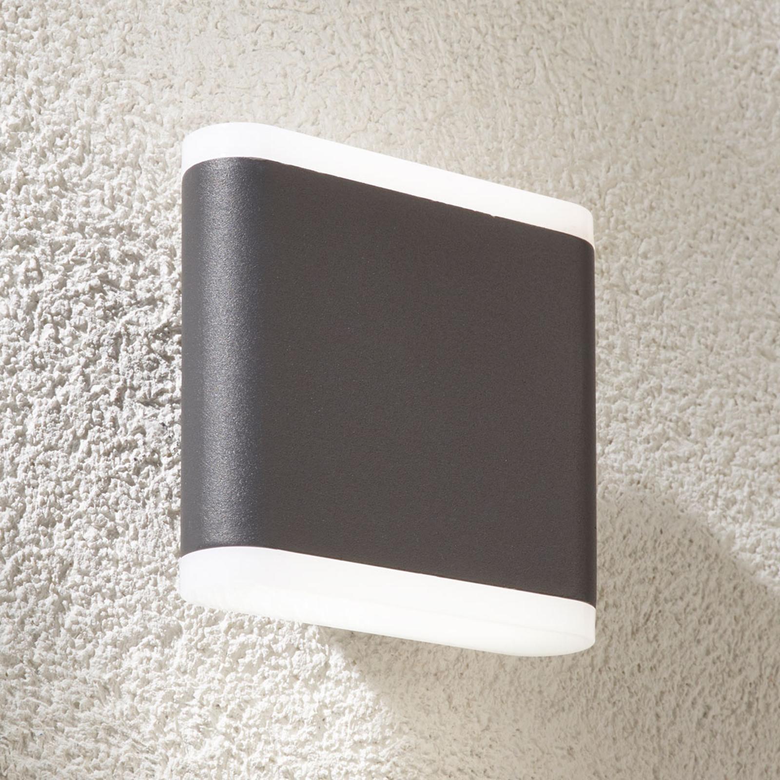 Tummanharmaa LED-ulkoseinävalaisin Vaiana