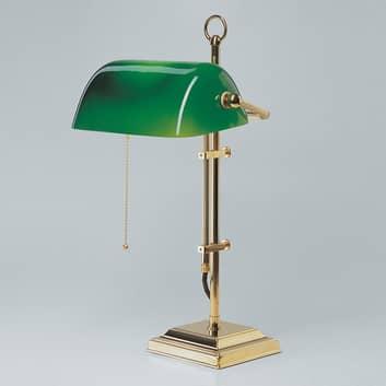 Lámpara banquera GITA de bronce pulido