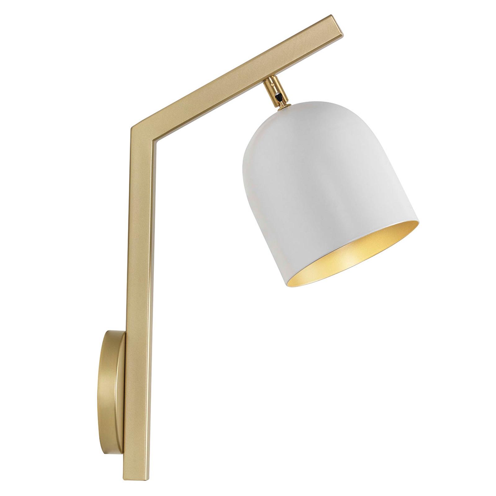 LED wandlamp Dome frame afgebogen wit