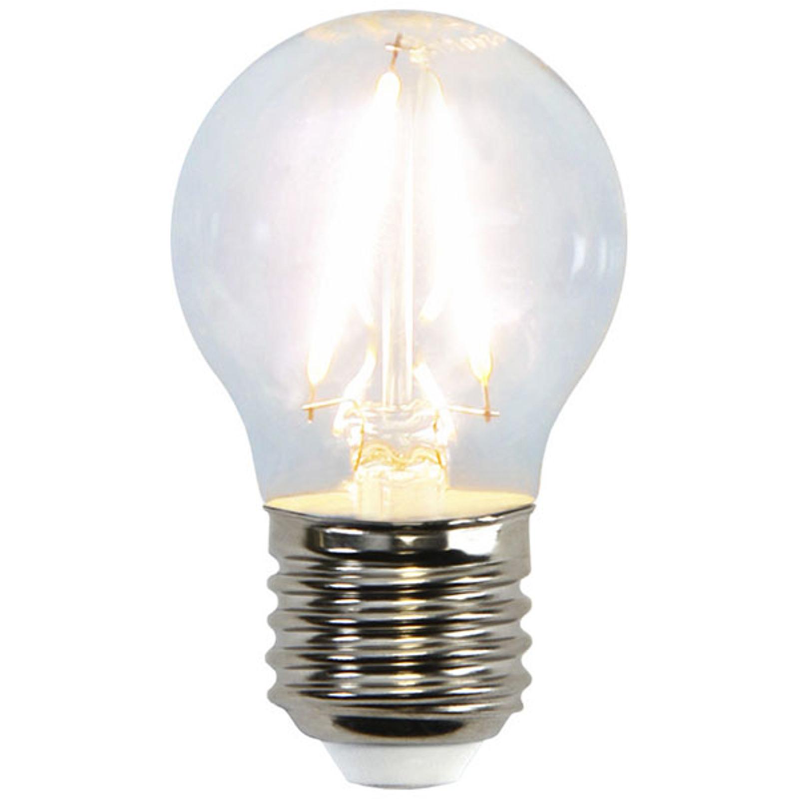 LED-Miniglobe-Lampe E27 G45 2W 2.700K Filament
