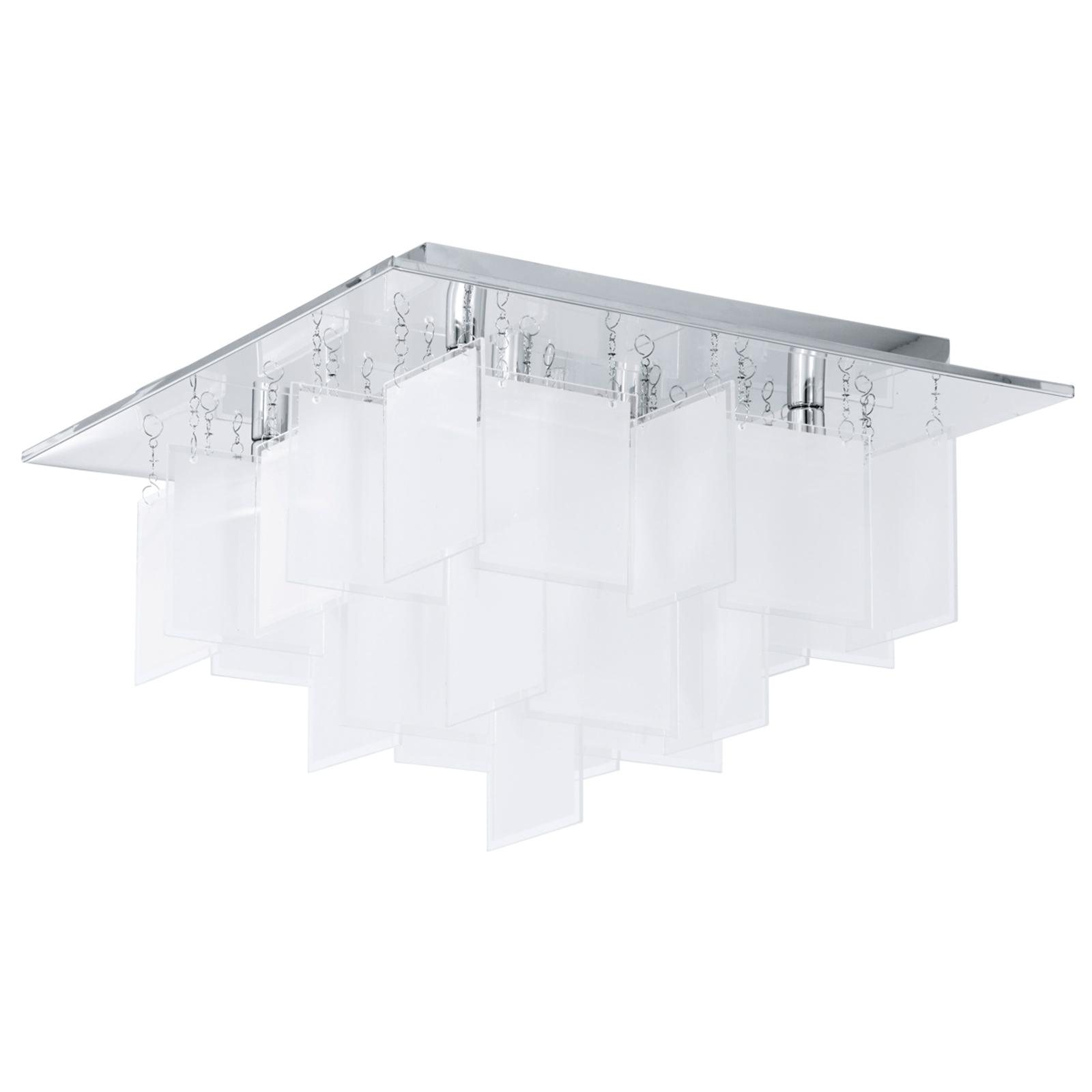 Straordinaria plafoniera Condrada 1 cortina vetro.