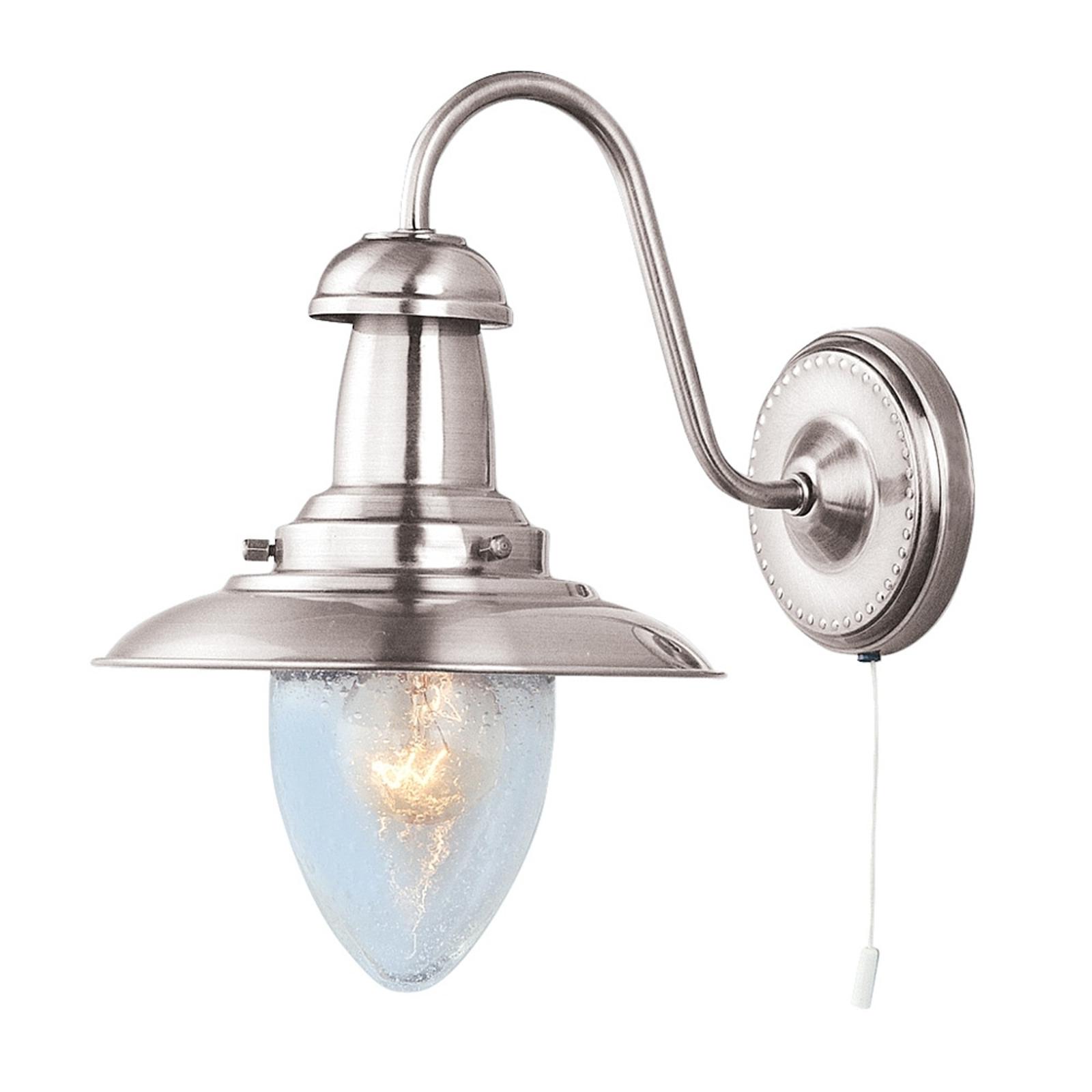 Vegglampe Fisherman i sølv