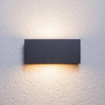 Kantet udendørs væglampe Bente, grafitfarvet
