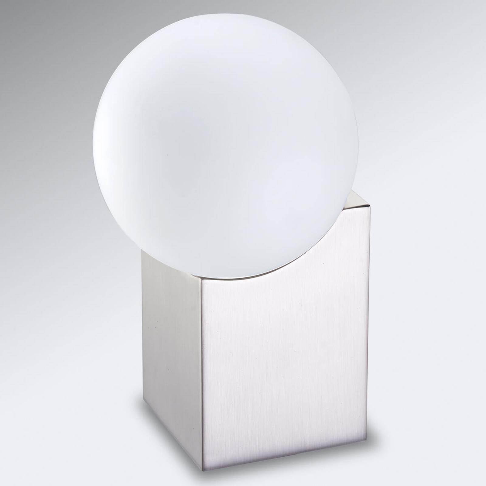 Tischlampe Cub 17,5 cm nickel matt