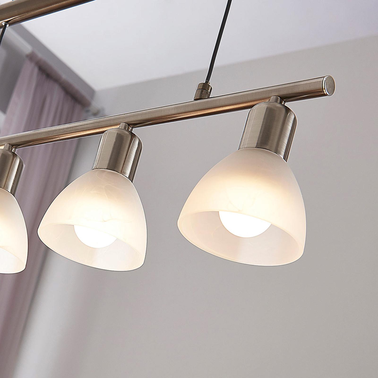 Høydejusterbar LED pendellampe Gwendolin, bjelke