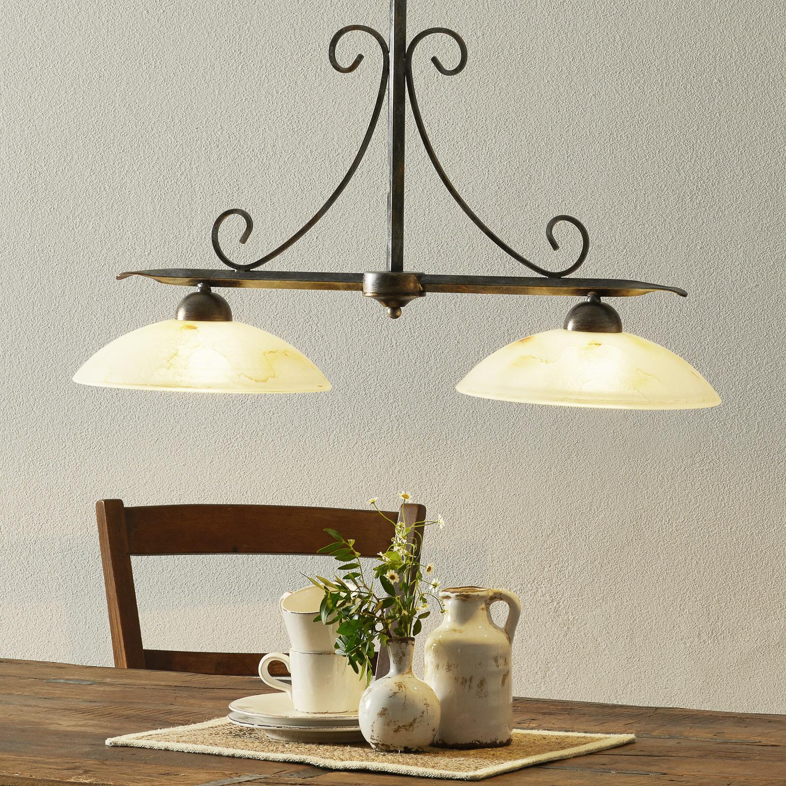 Dana hængelampe i landlig stil, 2 lyskilder