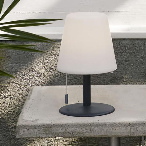 Lámpara mesa LED Gardenlight Creta, batería 26,5cm