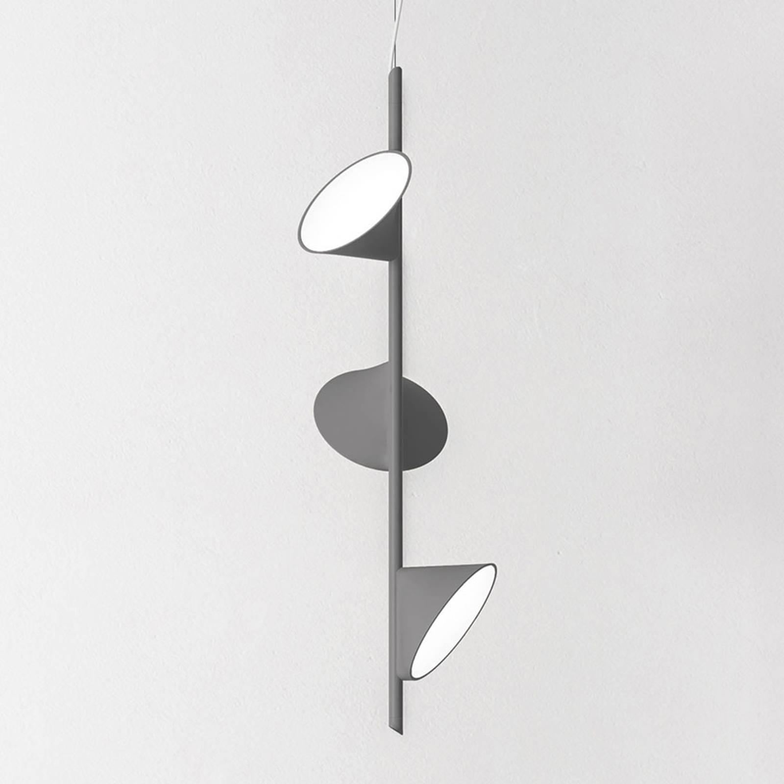 Axolight Orchid lampa wisząca LED 3-pkt. szara