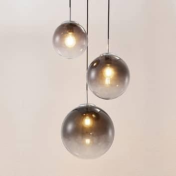 Lindby Robyn lámpara colgante de vidrio, 3 luces
