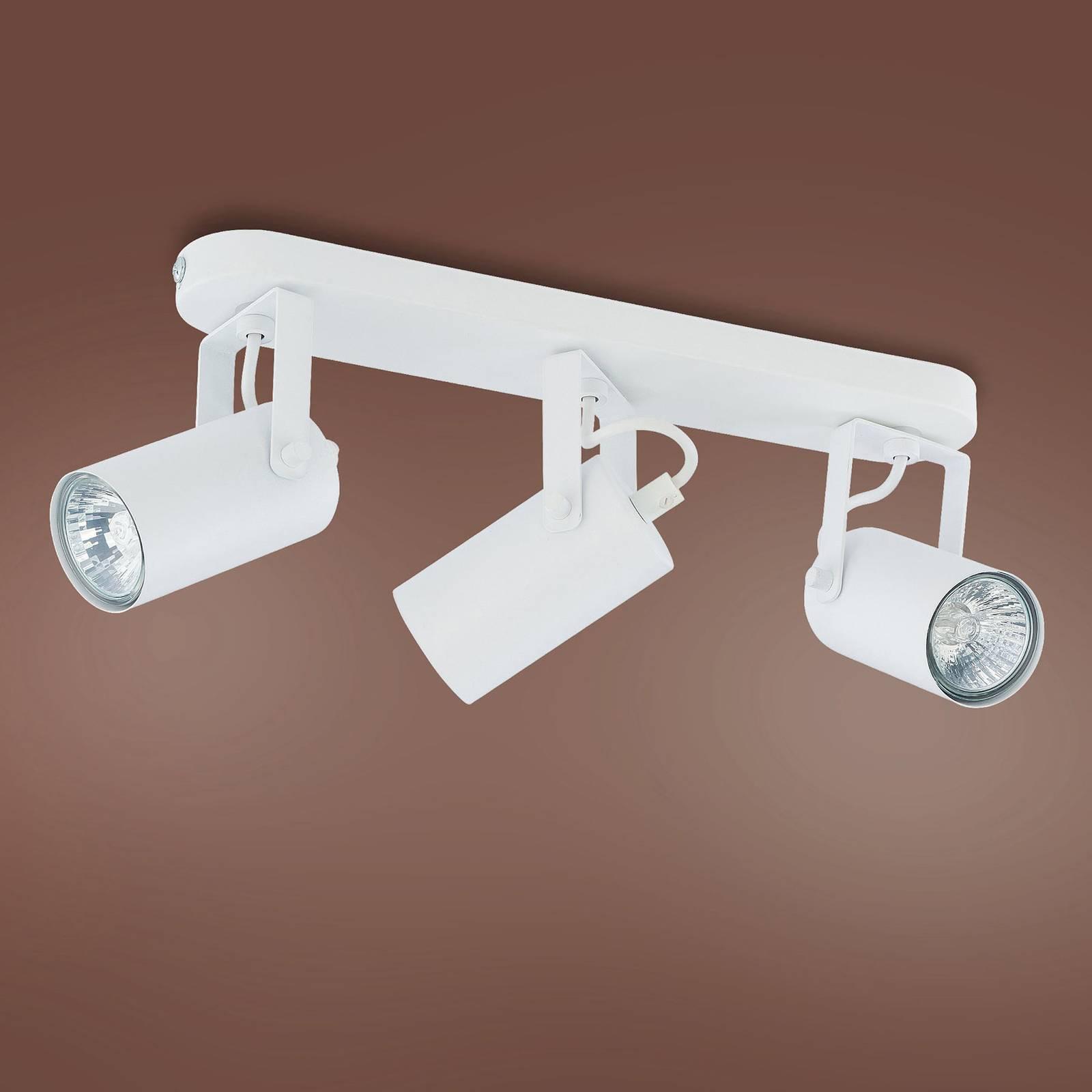 Plafonnier à spots Redo à 3 lampes, blanc