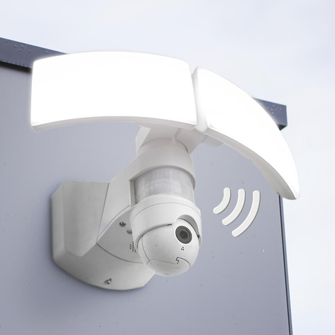 LED-ulkoseinälamppu Libra Cam, kameralla