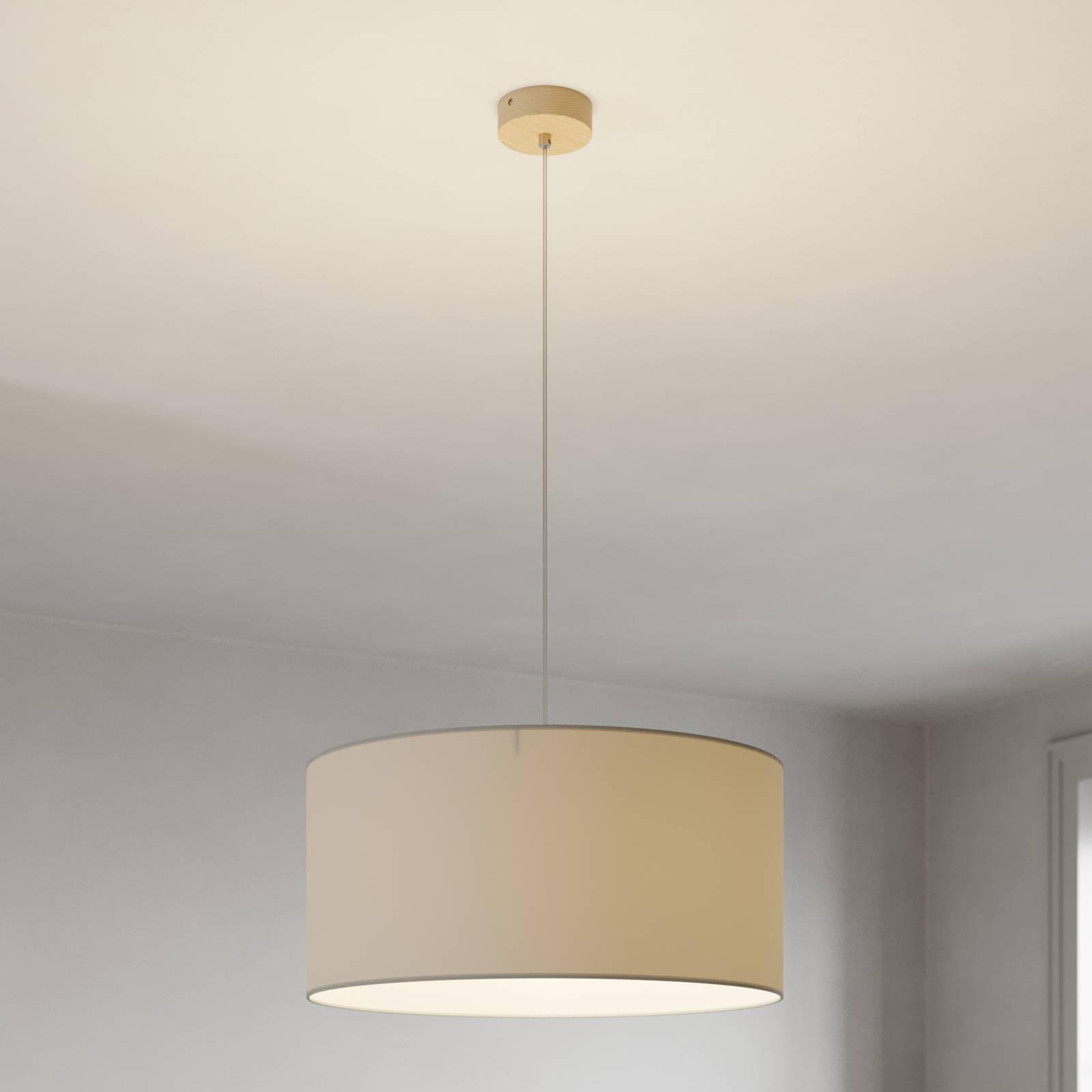 Lampada sospensione Corralee, grigio, 1 luce
