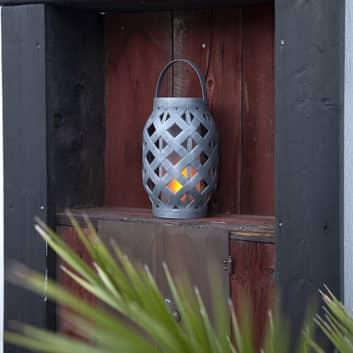 LED-Solarlaterne Wicker Flame, schwarz
