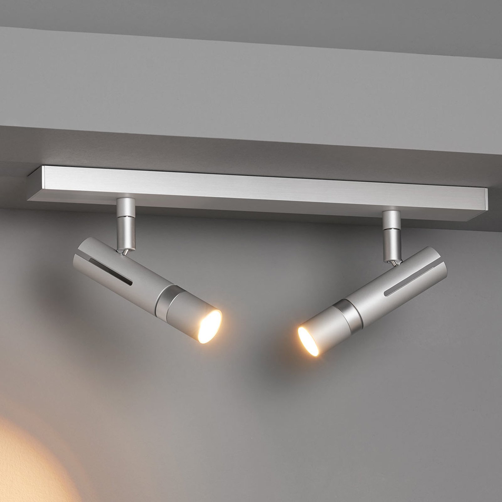 LDM Kyno Spot Duo loftbeslag påmontering, alu-krom