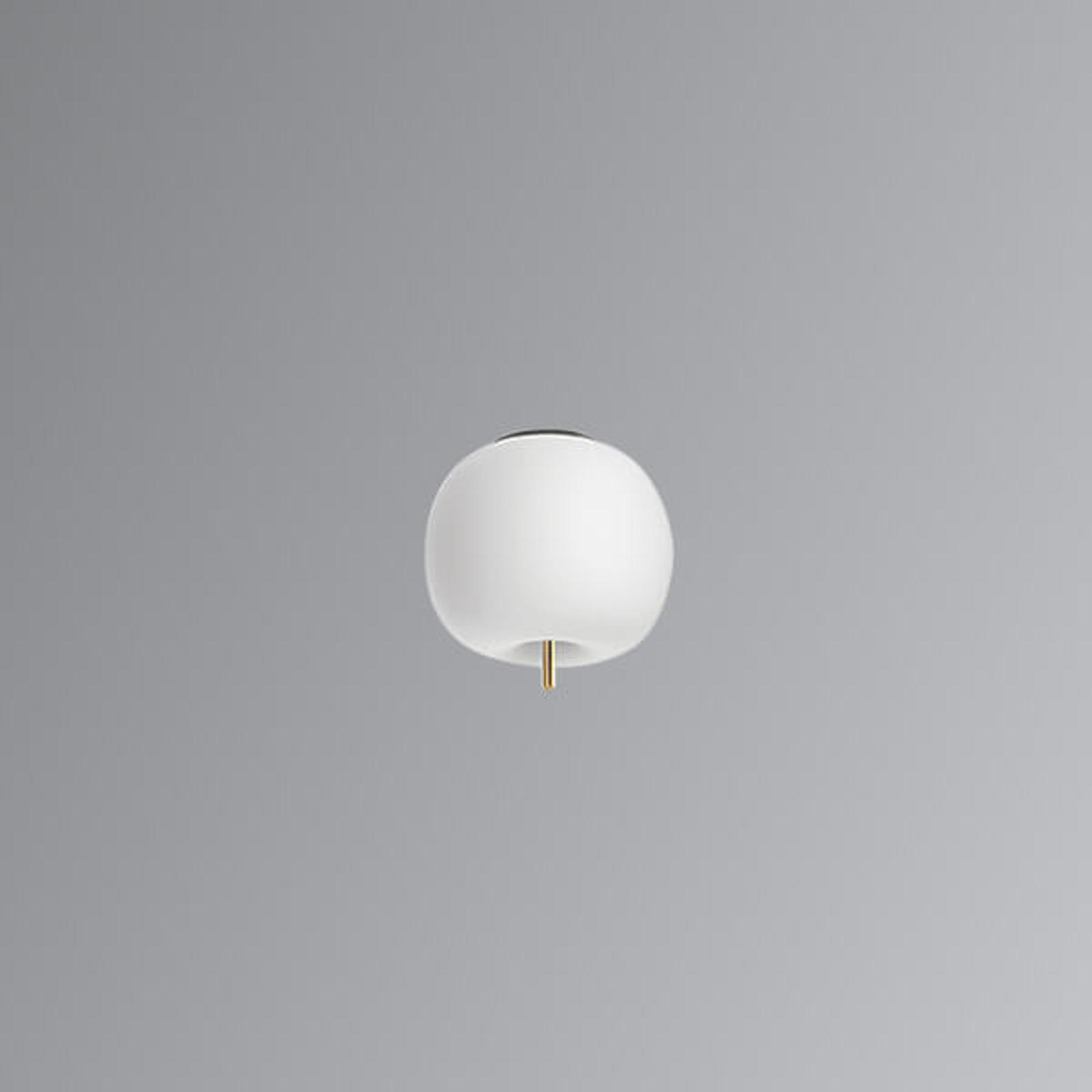 Plafoniera LED di design in vetro Kushi, 16 cm