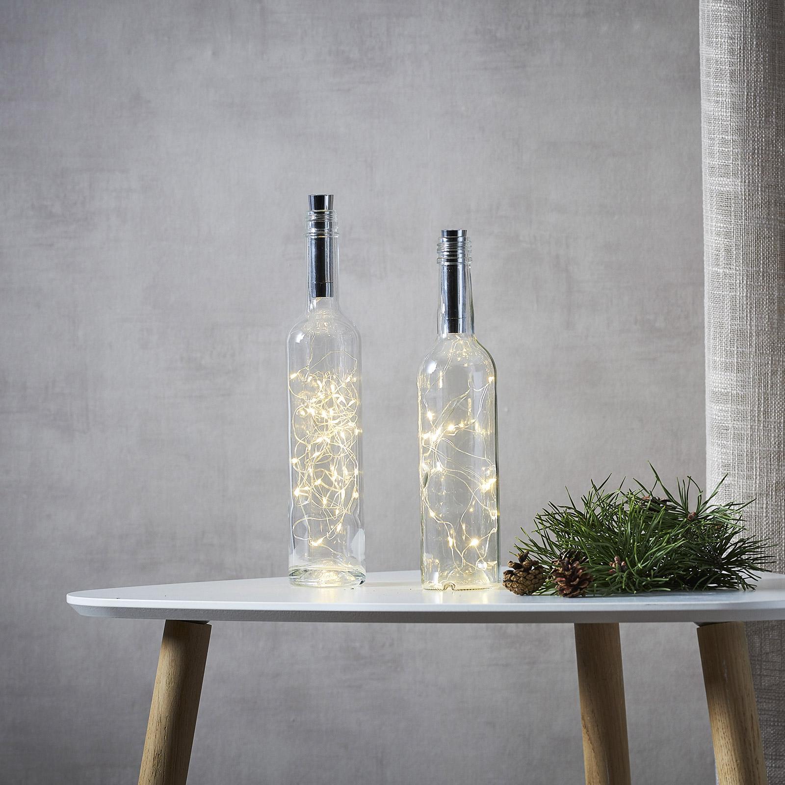 Lyslenke til flasker Dew Drops 200cm batteri