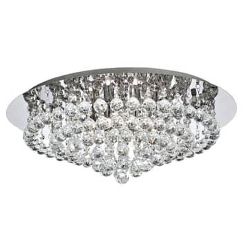 Taklampe Hanna krom med krystallkuller