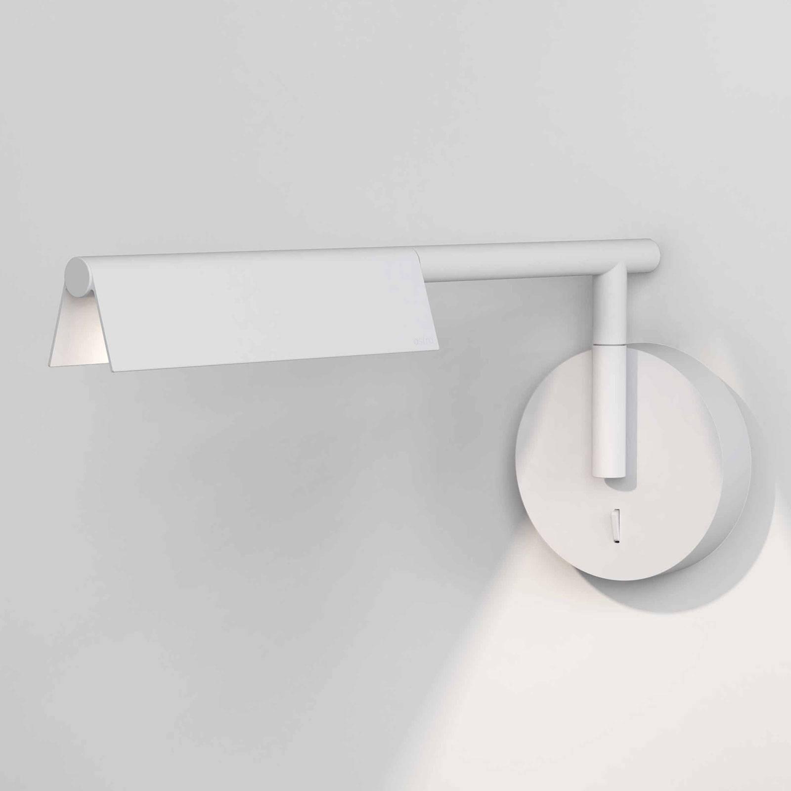 Astro Fold LED wandlamp met schakelaar, mat wit