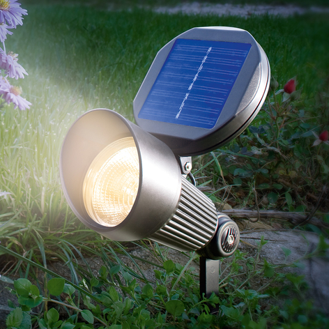 Solcellsspot Spotlight med varmvit LED-ljus