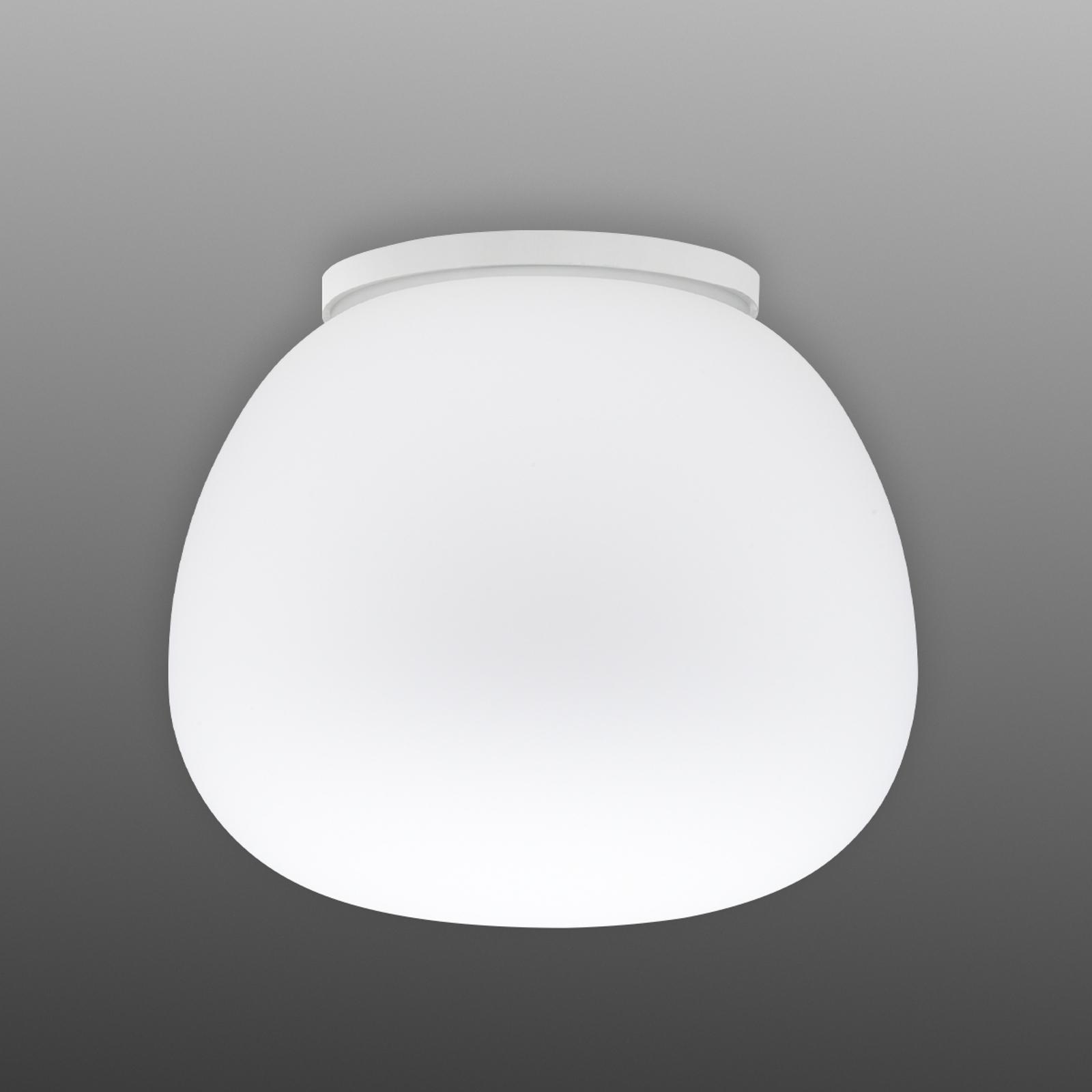 Delikatna biała lampa sufitowa MOCHI D 38 cm