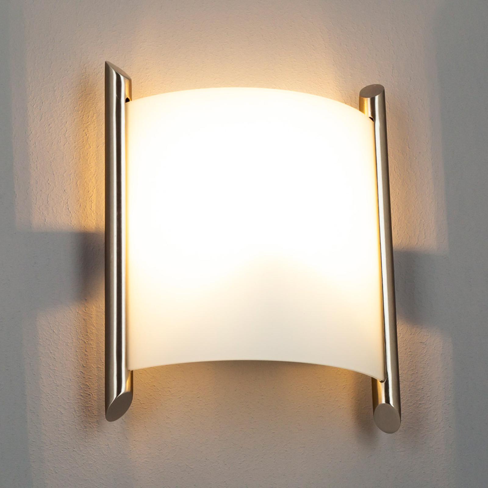 Filippa wandlamp, 20 cm, nikkel gesatineerd
