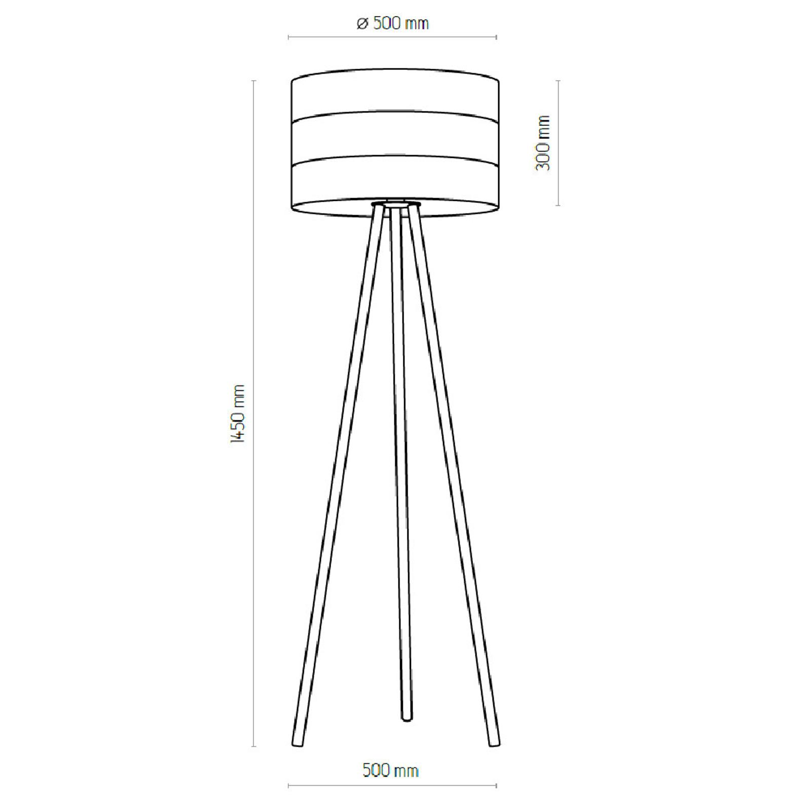 Vloerlamp Tago met driebeen-frame wit/goud