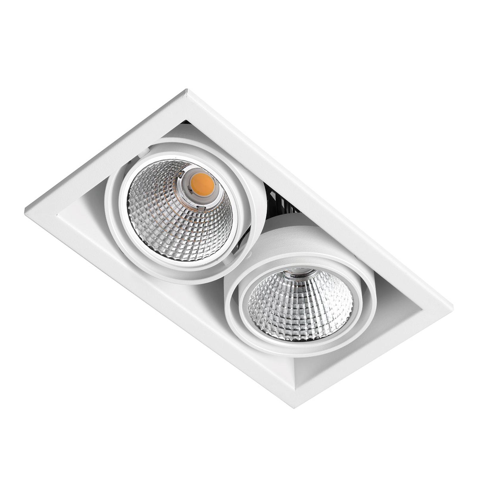 LED inbouwspot Zipar Duo Recessed 39W, 3.000K