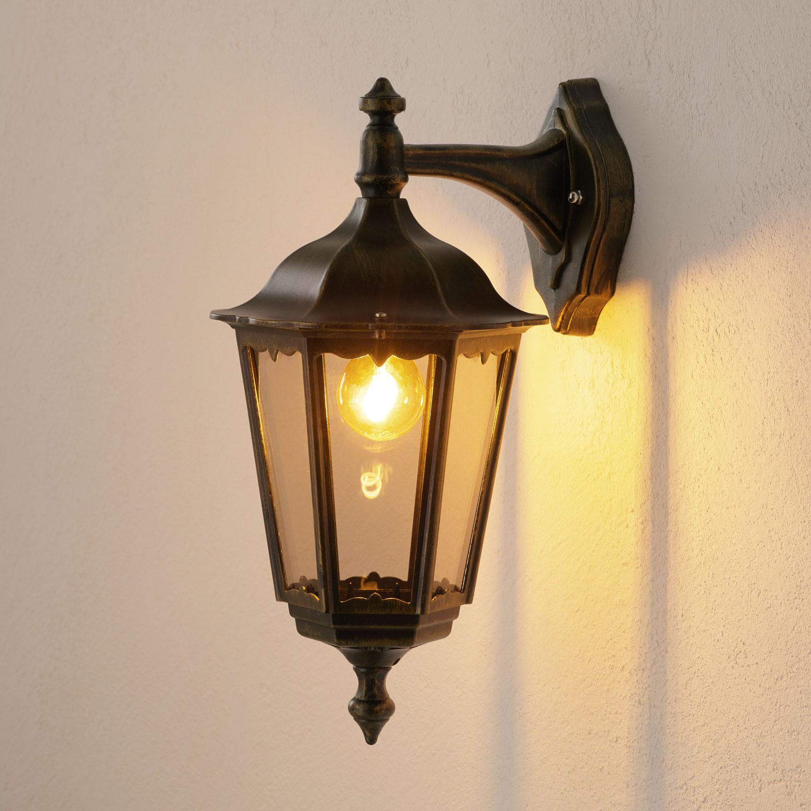 Lantaarnvormige buitenwandlamp Fabio, hangend