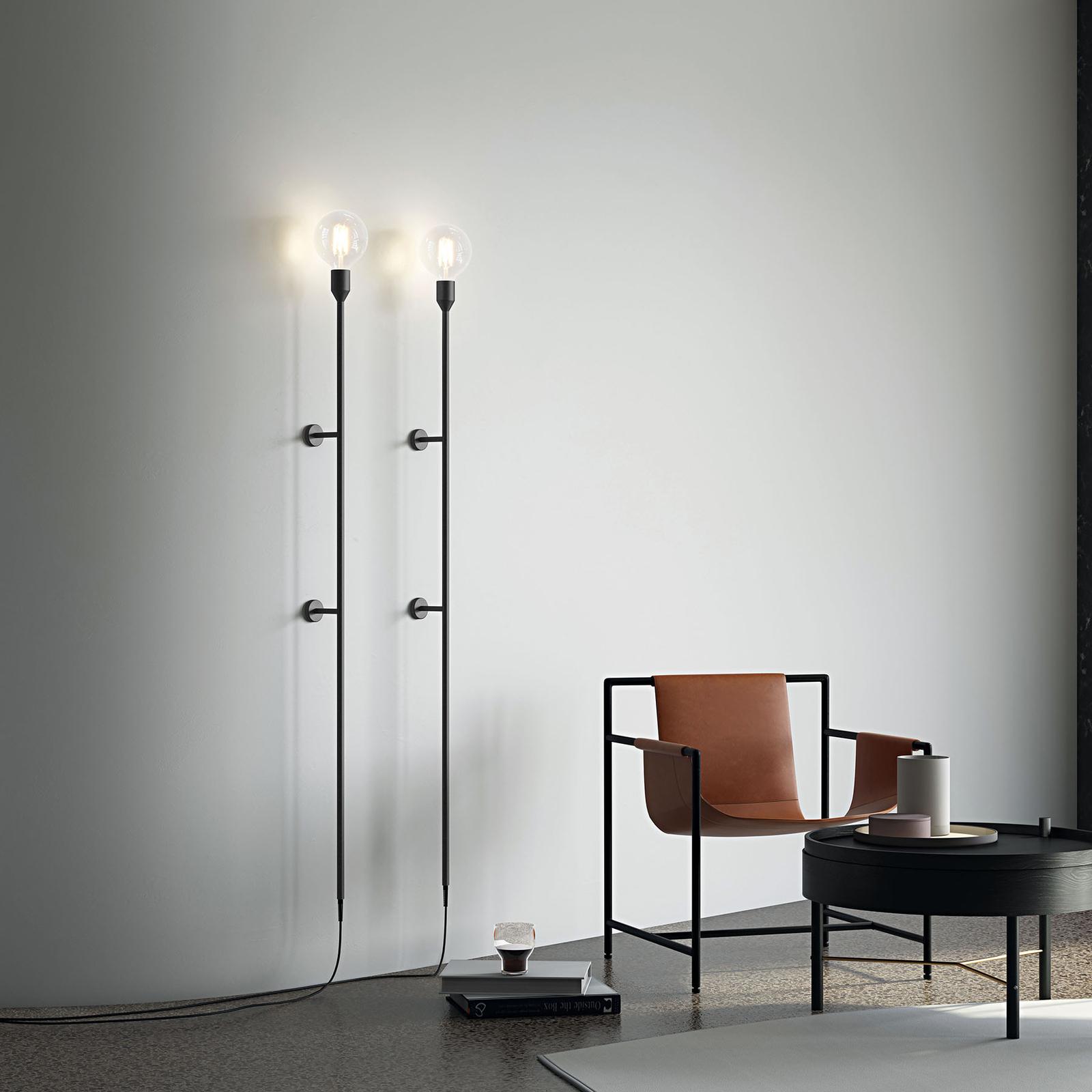 Modo Luce Geco wandlamp 155cm zwart met stekker