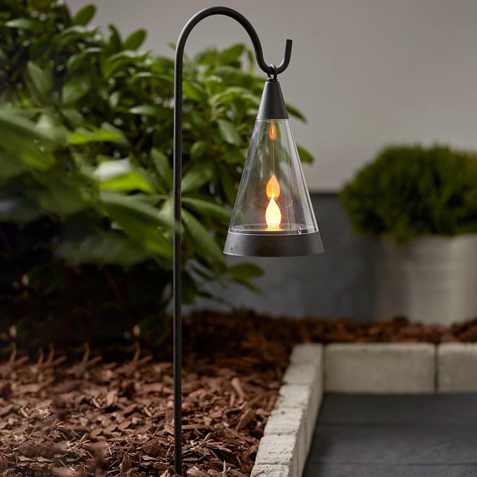 Pisa 3-i-1 LED-solcellelampe, valgfrit jordspyd