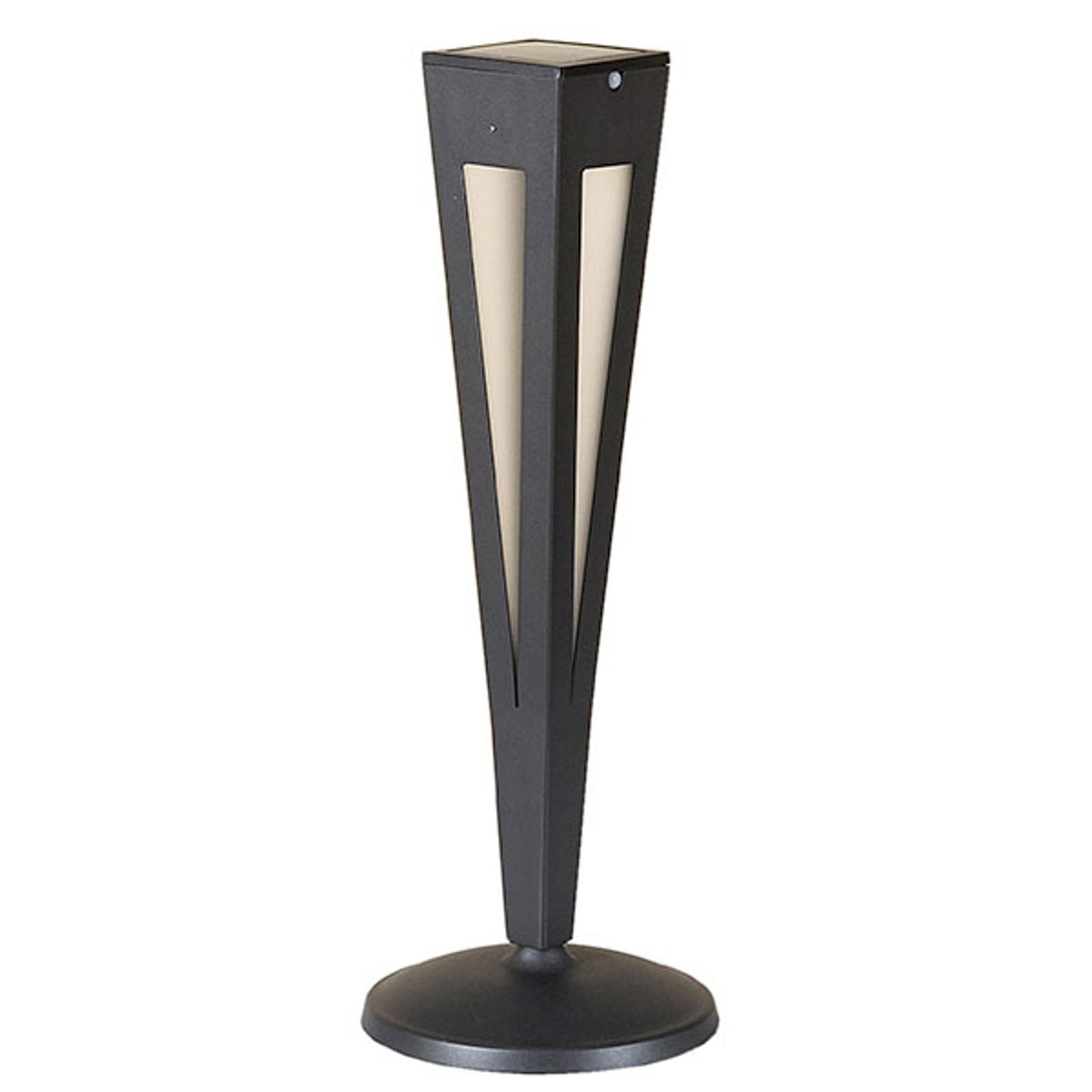 Pochodnia solarna LED Tinka, czujnik 62 cm, szara