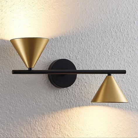 Lucande Kartio 2 žárovka, up down, mosaz