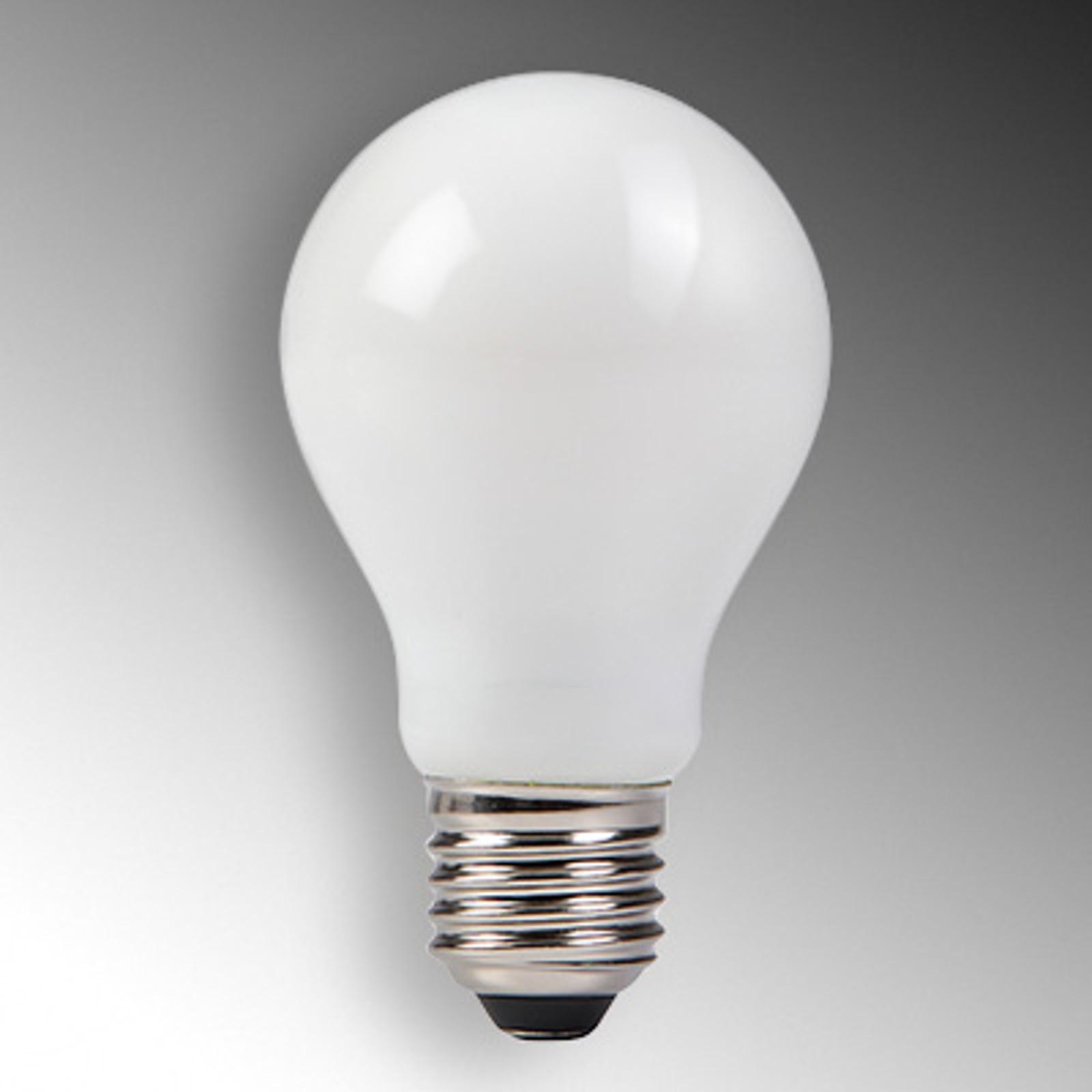 E27 4W 827 LED-hehkulamppu satinoitu