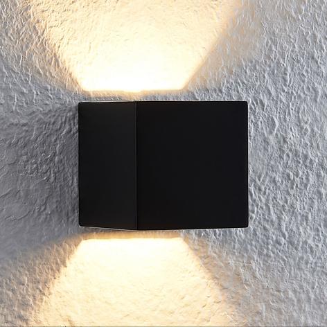 Lindby Quaso LED-Wandlampe, Beton schwarz
