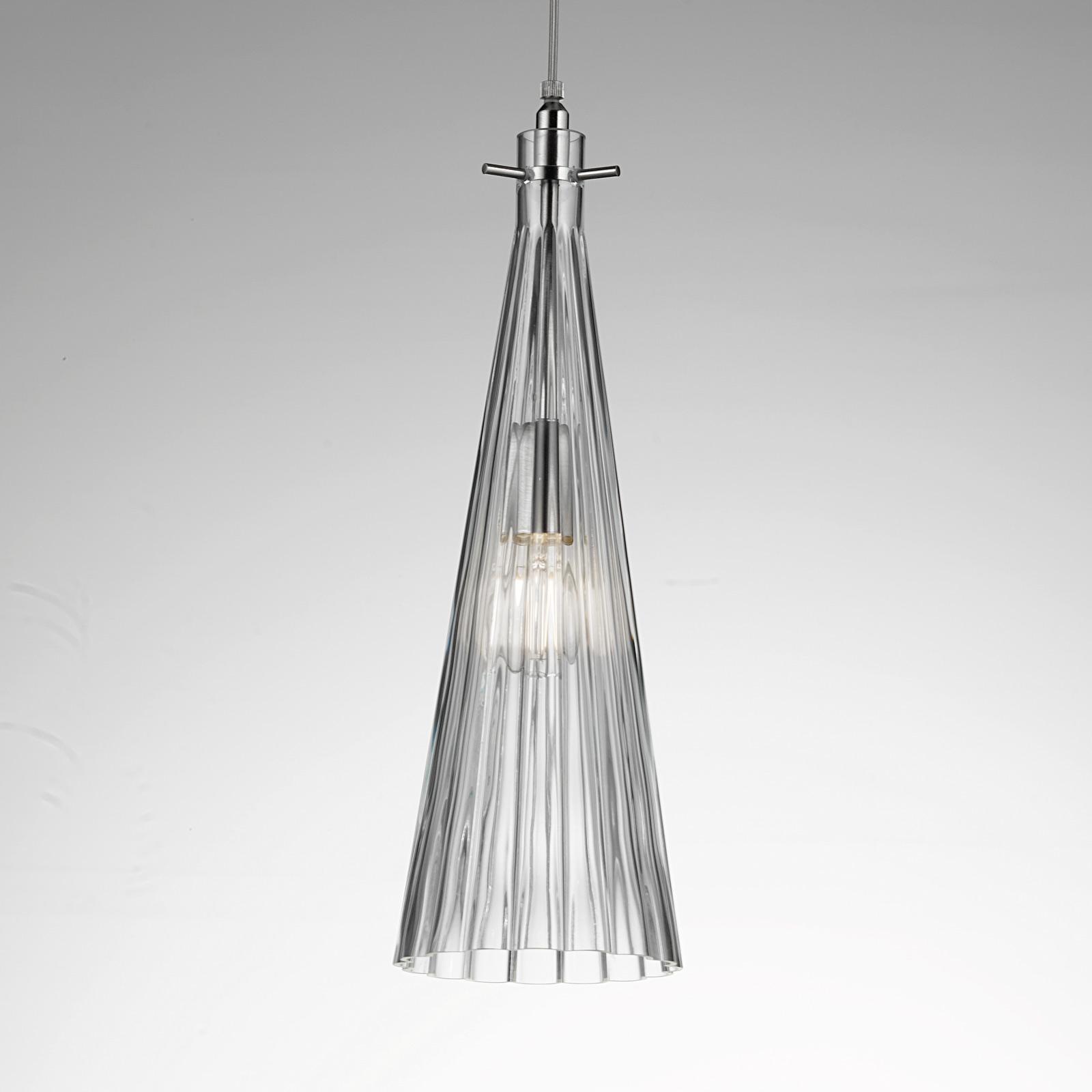 Lampa wisząca Costa Rica ze szkła, przezroczysta