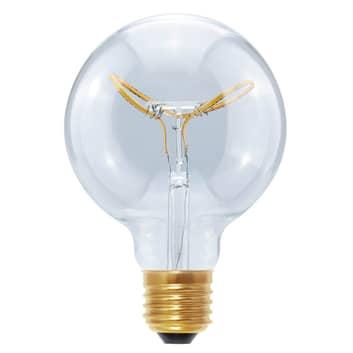 E27 8W 922 LED-Globe Curved Butterfly klar