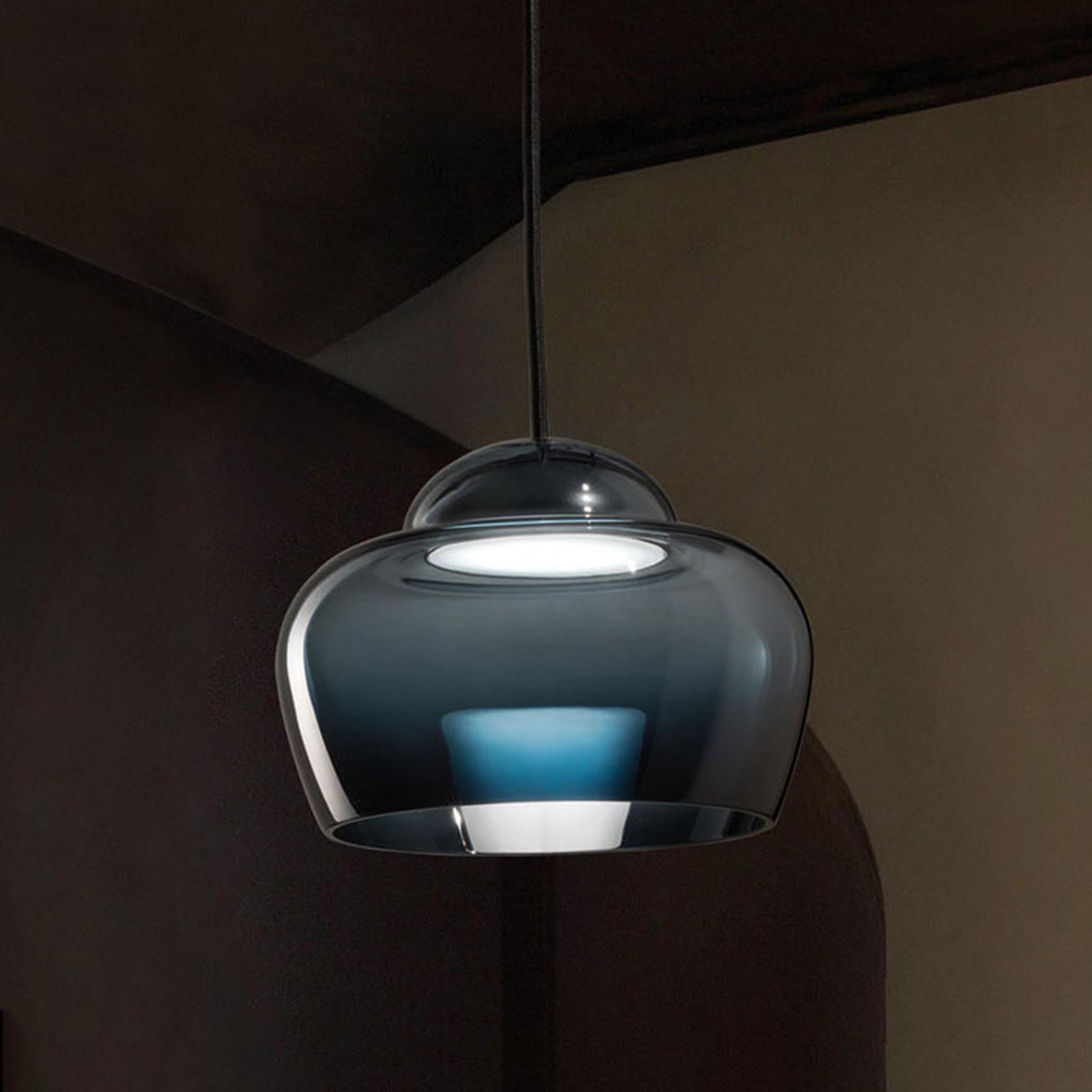 LED-Hängeleuchte Cristallina schwarz
