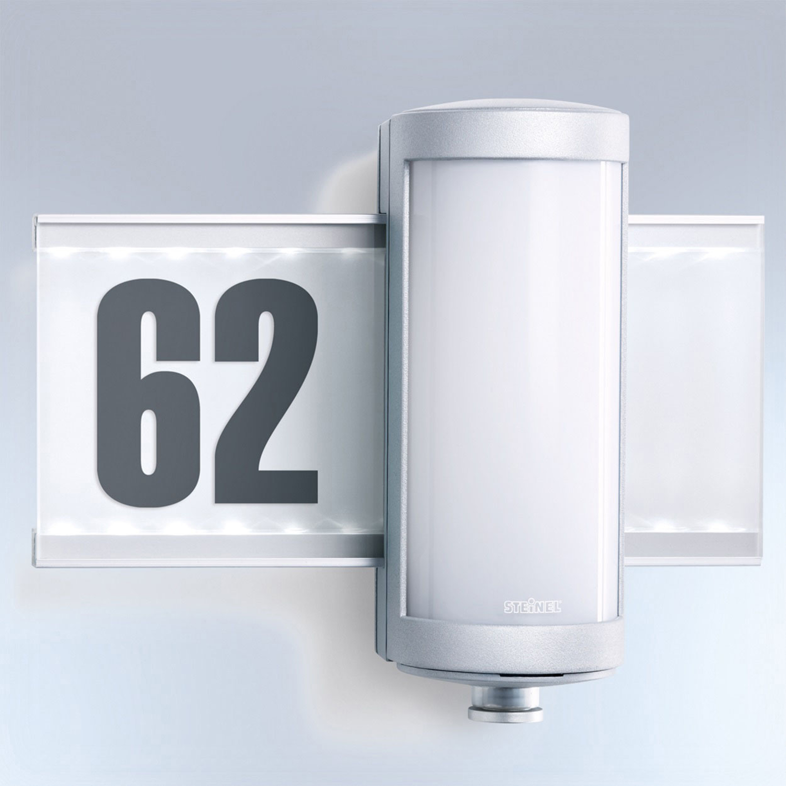 STEINEL L 625 LED-Außenwandlampe mit Sensor silber