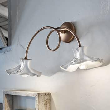 Elegante lámpara de pared Eleonora, dos brazos